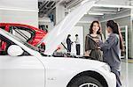 Mechanics and Customers in Auto Repair Shop
