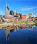 Skyline of downtown Nashville, Tennessee, USA.