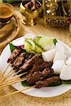 satay malay hari raya foods ,focus on the meat