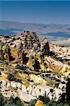 City of Cavusin in Cappadocia, Turkey