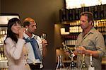 Wine tasting at wine growers shop