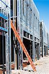 Ladder on construction frame