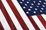 American flag, close up