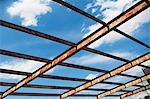 Open rusting roof framework