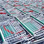 Rows of Shopping Carts
