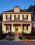 Yellow house, exterior