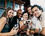 Five Friends in a Pub