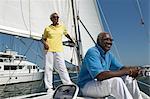 Senior Couple on a Yacht