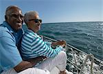 Senior Couple Sat Together on a Yacht