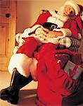 Santa Claus Sleeping in a Chair