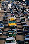Heavy traffic on freeway