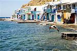 Fishing village Klima, Milos, Greece, Europe