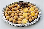 Salgadinhos (savoury filled pastries, Brazil) on a tray