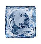 Ice Block, globe
