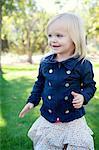 Female toddler in park