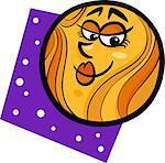 Cartoon Illustration of Funny Venus Planet Comic Mascot Character