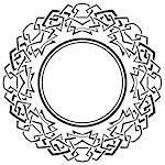Black frame with ornamental border on white