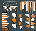 Retro infographics set.
