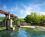 Dam on the river Severskiy Donets in Ukraine