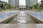 Water Fountain at KLCC Kuala Lumpur City Center in Malaysia