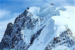 Mont Blanc mountain massif summer landscape(view from Aiguille du Midi Mount,  France )