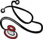 Cartoon Illustration of Stethoscope Clip Art