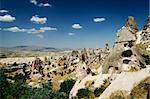 City of Uchisar in Cappadocia, Turkey