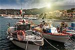 Fishing boats in Marciana marina, Elba Island, Italy