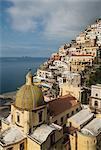 Decorated church dome, Positano, Campania, Italy