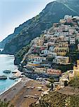 Houses on hillside, Positano, Amalfi Peninsula, Campania, Italy