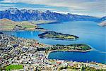 Queenstown and Lake Wakatipu, South Island, New Zealand