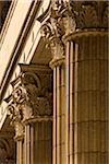 Close-up of Pillars at Chamber of Commerce, San Francisco, California, USA