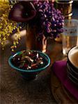 Bowl of Olives on Table, Studio Shot