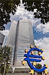 Germany. Frankfurt. Euro Symbol.