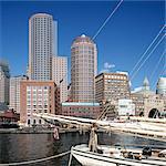 Rowe's Wharf and Skyline, Boston, MA