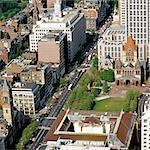 Aerial View, Trinity Church, Copley Square, Boston