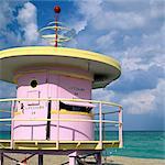 Art deco lifeguard station, Miami, South Beach, FL