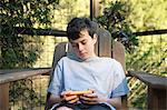 Teenage Boy and Smart Phone