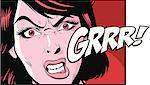 Woman sneering