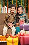 Children celebrating Diwali
