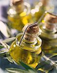 Small bottles of olive oil