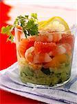 Avocado,grapefruit and shrimp salad
