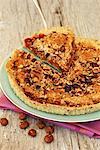 Tomato,hazelnut and thyme shortbread savoury tart