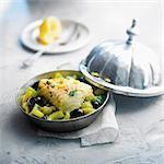 Cod,confit citrus and celery Tajine