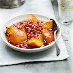 Peach and pomegranate Tajine