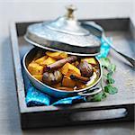 Spicy pumpkin and chestnut Tajine