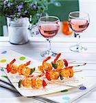 Shrimp brochettes