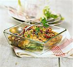 Zucchini and tuna gratin