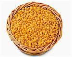 Basket of sweet corn
