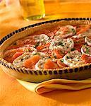 Tomato and Blue de Bresse savoury tart